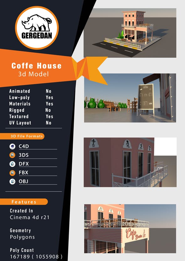 Coffee House - 3DOcean Item for Sale