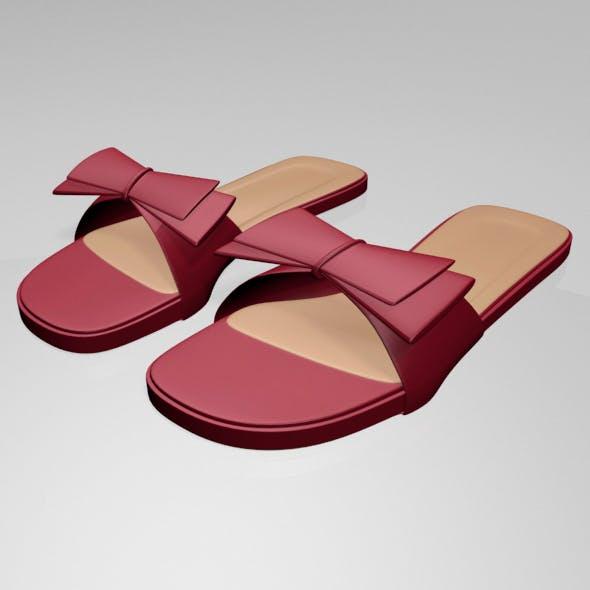 Double-Bow Slide Sandals 01