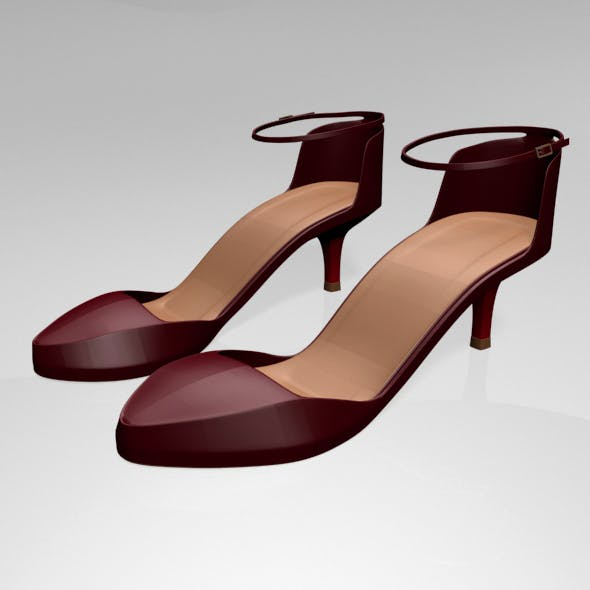 Pointy-Toe Ankle-Strap High-Heel Sandals 01