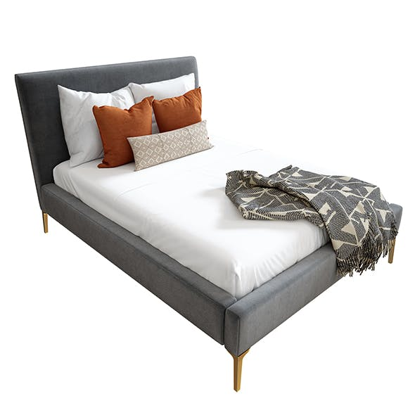 Andes Deco Upholstered Bed