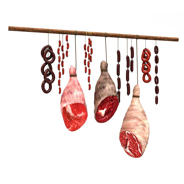 3D meats and sausages model