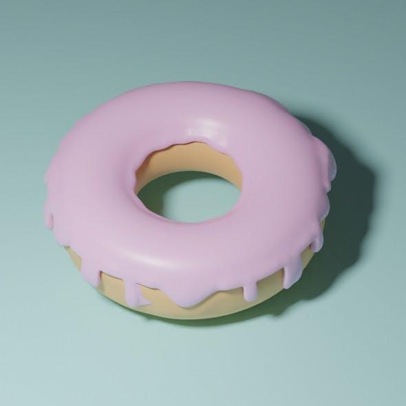Pink creamy Doughnut