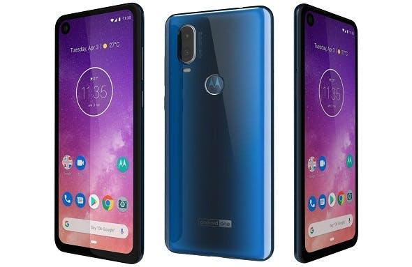 Motorola One Vision Sapphire gradient - 3DOcean Item for Sale