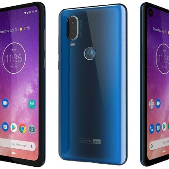 Motorola One Vision Sapphire gradient
