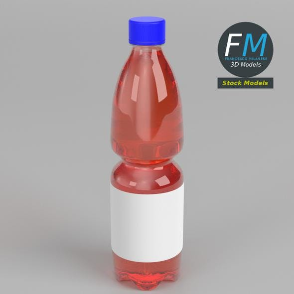 Bottle with liquid and label