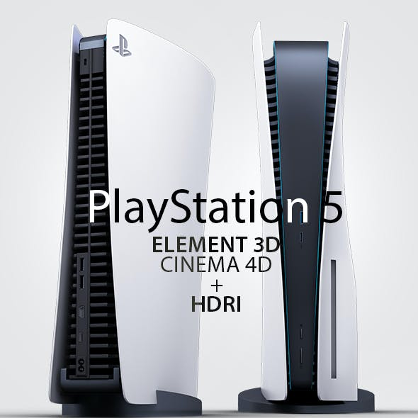 PlayStation 5 3D Model Element 3D