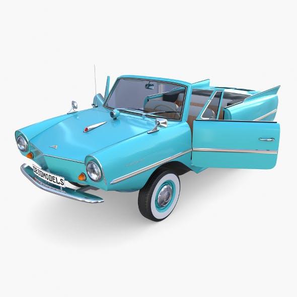 Amphicar 770 Blue w Interior - 3DOcean Item for Sale
