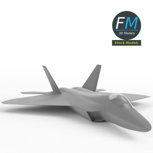 F-22 Raptor base mesh