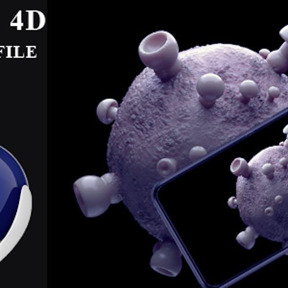 corona virus covid 19  bacteria animated 3d object
