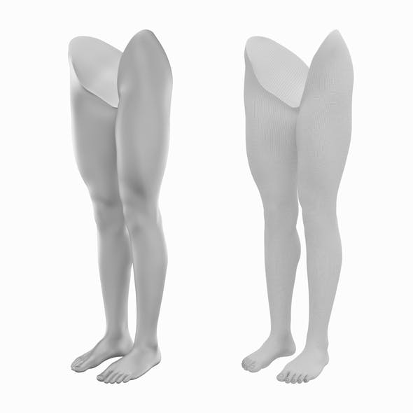 Realistic Female Legs Natural Proportions Base Mesh - 3DOcean Item for Sale