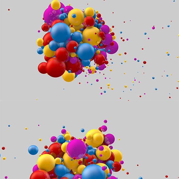 Animated colored circles