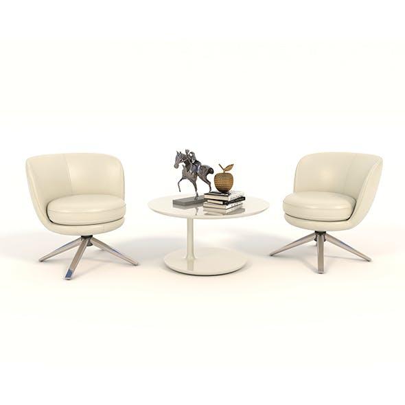 Contemporary Design Armchair Set 11