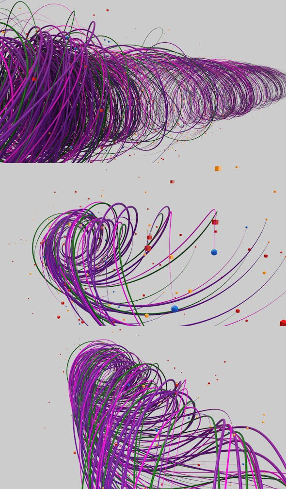 Animated color lines - 3DOcean Item for Sale