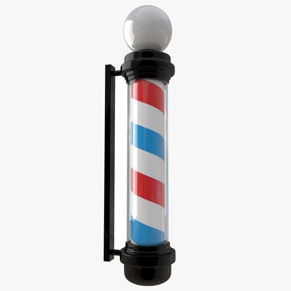 Barber Shop Pole Black - 3DOcean Item for Sale