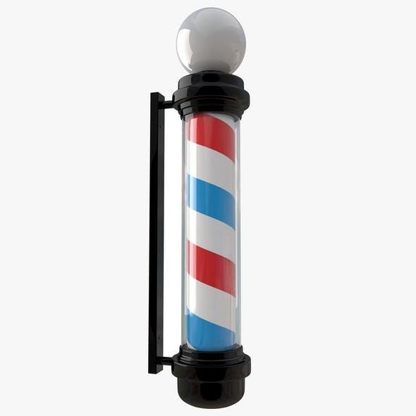 Barber Shop Pole Black
