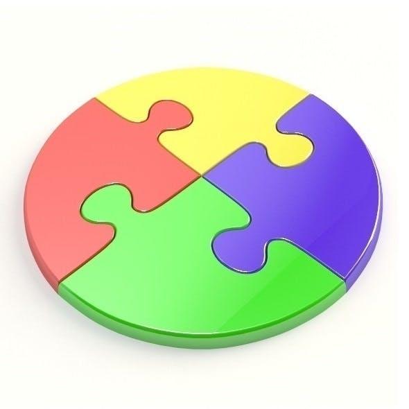 Circle jigsaw puzzle