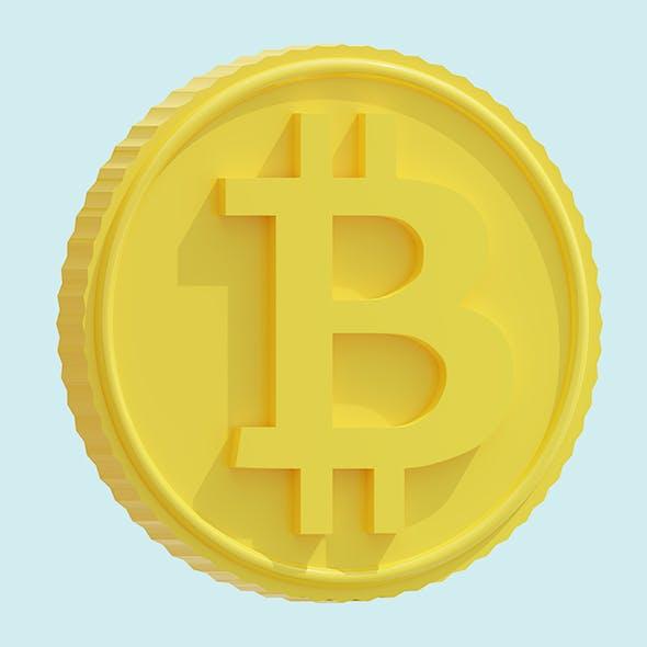 Cartoon bitcoin