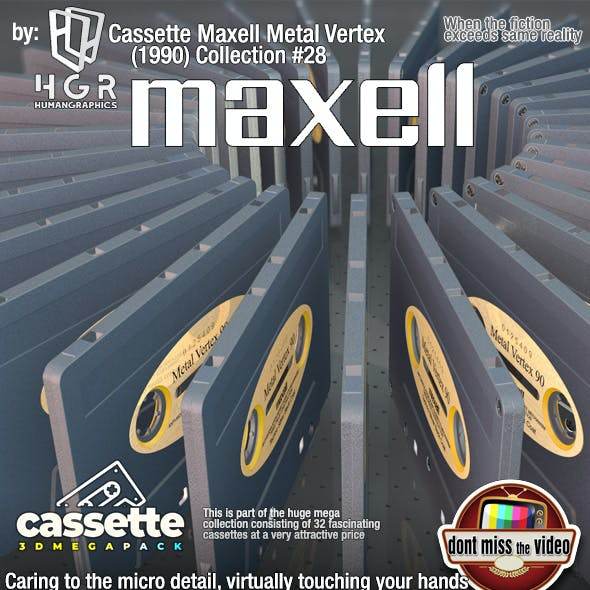 Cassette Maxell Metal Vertex (1990) Collection #28