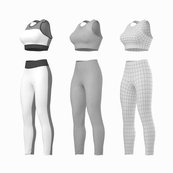 Woman Sportswear 6 Base Mesh Design Kit