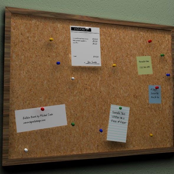 3D Cork Bulletin Board - 3DOcean Item for Sale