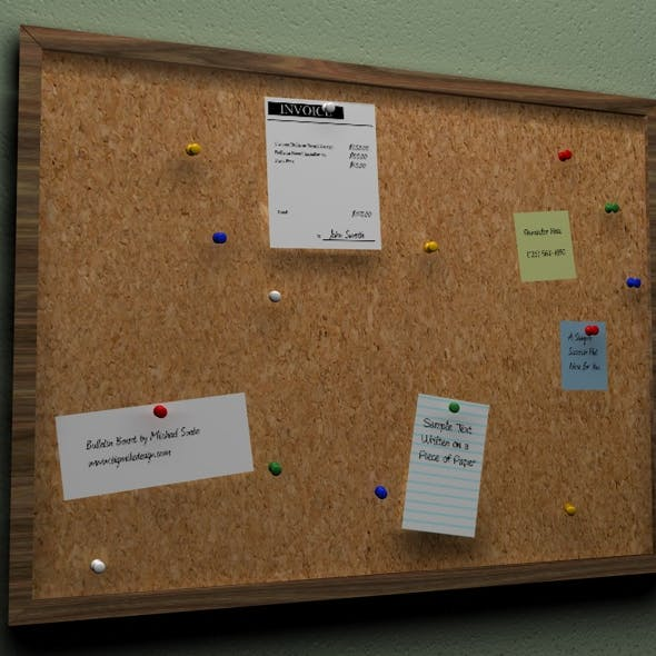 3D Cork Bulletin Board