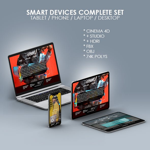 Smart Devices Complete 3D Models Pack