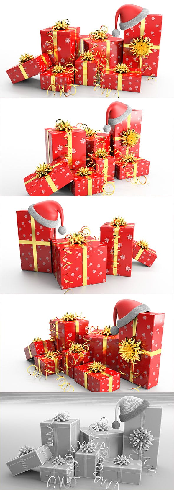 New Year Presents and Gift Boxes v1 - 3DOcean Item for Sale