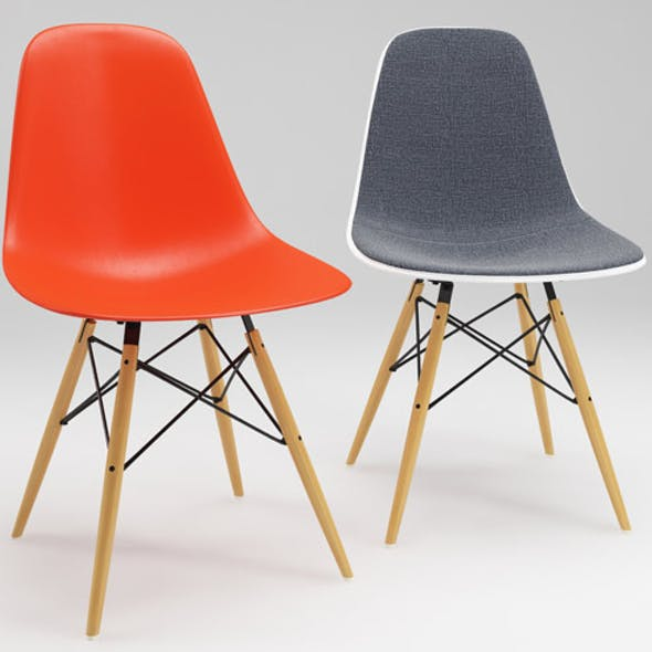 Photoreal Eames Chair - DSW + vray materials