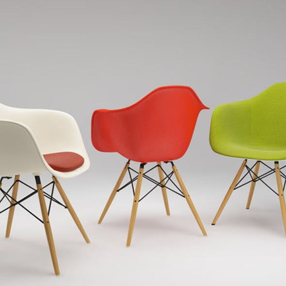 Photoreal Eames Chair - DAW + vray materials