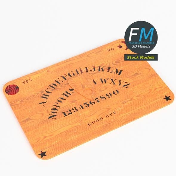 Ouija board with planchette - 3DOcean Item for Sale