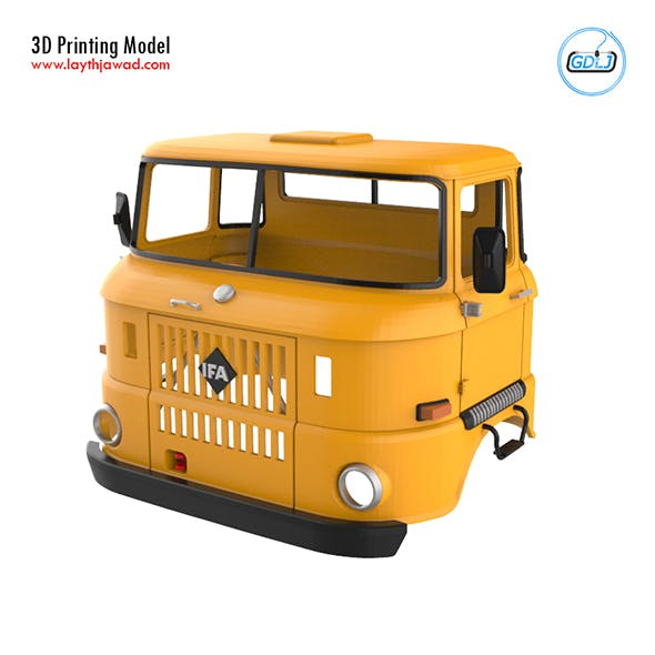 IFA W50 Cabin - Full Professional Version 3D Printing Model - 3DOcean Item for Sale