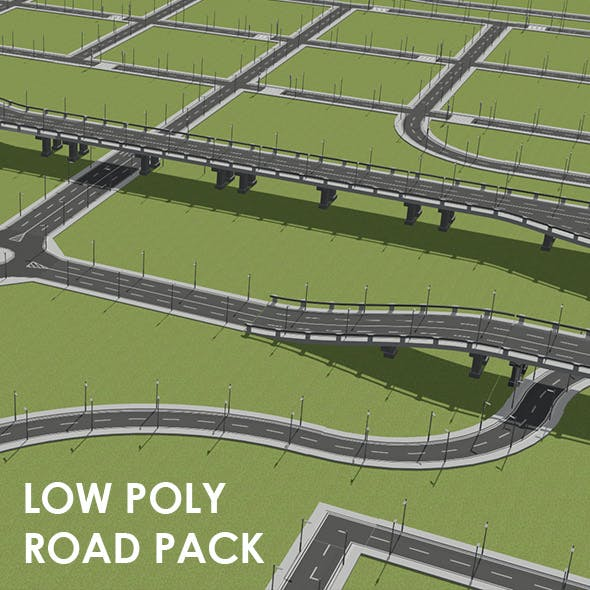 Low Poly Road Pack