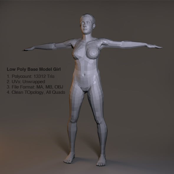 Low Poly Base Model Female