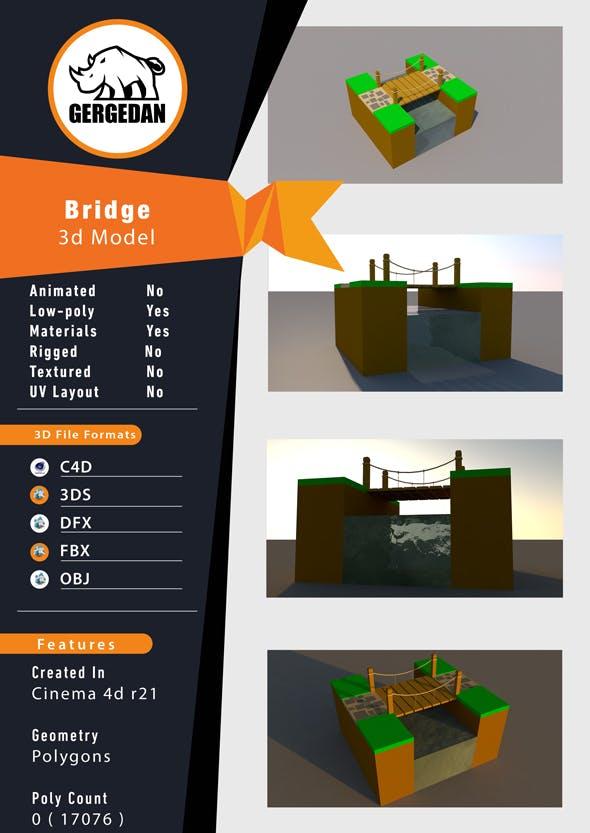 Low Poly Bridge - 3DOcean Item for Sale