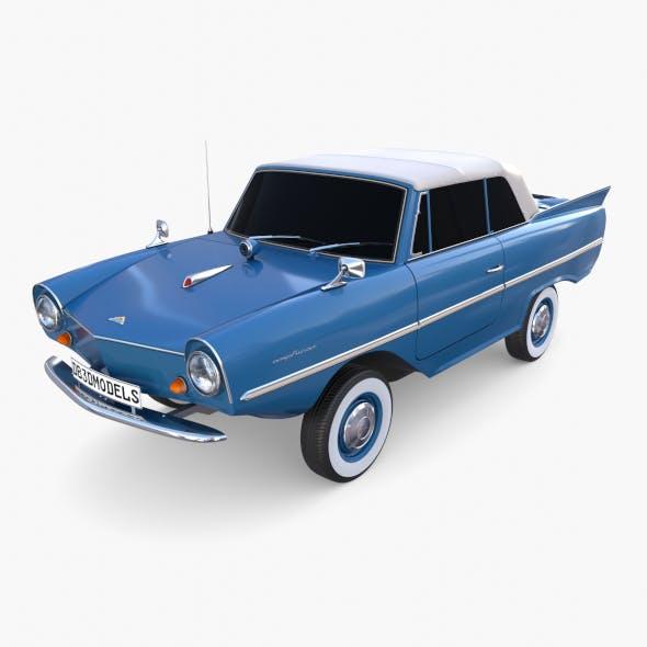 Amphicar 770 Blue Top Up - 3DOcean Item for Sale
