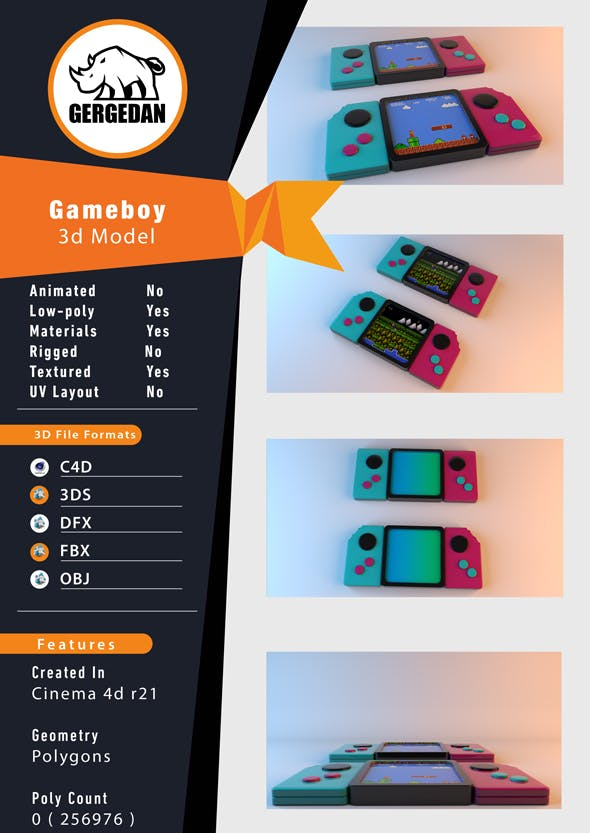 Gameboy - 3DOcean Item for Sale