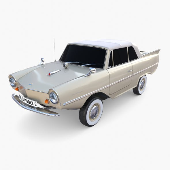 Amphicar 770 Cream Top Up - 3DOcean Item for Sale