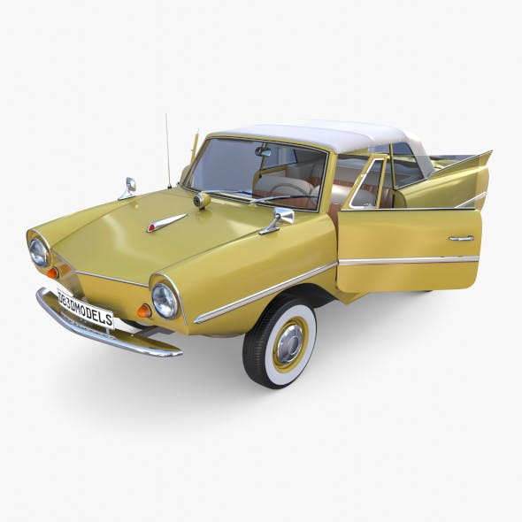 Generic 60s Amphibious w Interior Car Top up - 3DOcean Item for Sale