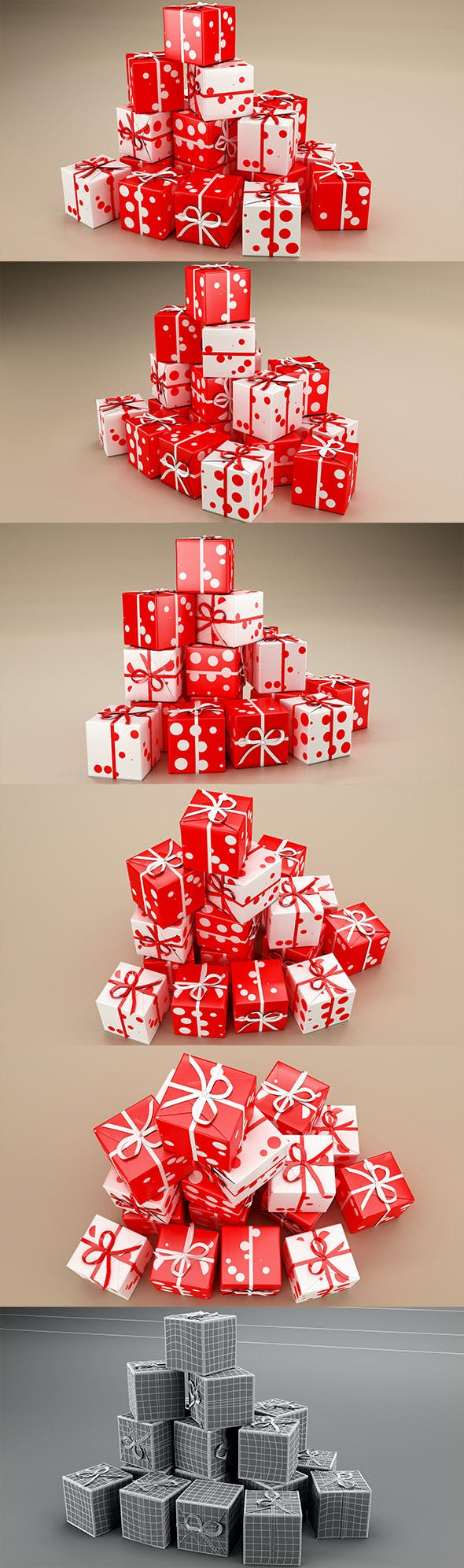New Year Presents and Gift Boxes v2 - 3DOcean Item for Sale