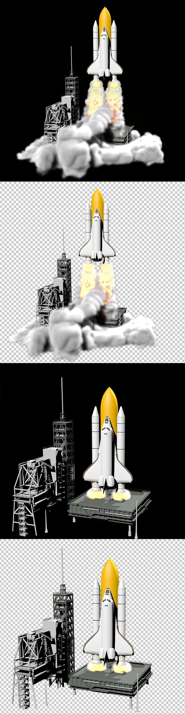 Launch the space shuttle - 3DOcean Item for Sale
