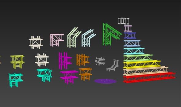 Truss Model Set - 3DOcean Item for Sale