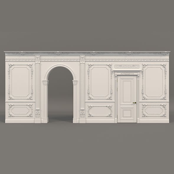 Classic Interior Wall Decoration 2 - 3DOcean Item for Sale