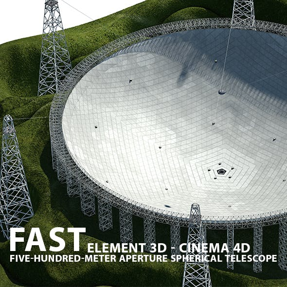FAST Telescope 3D Model for Element 3D