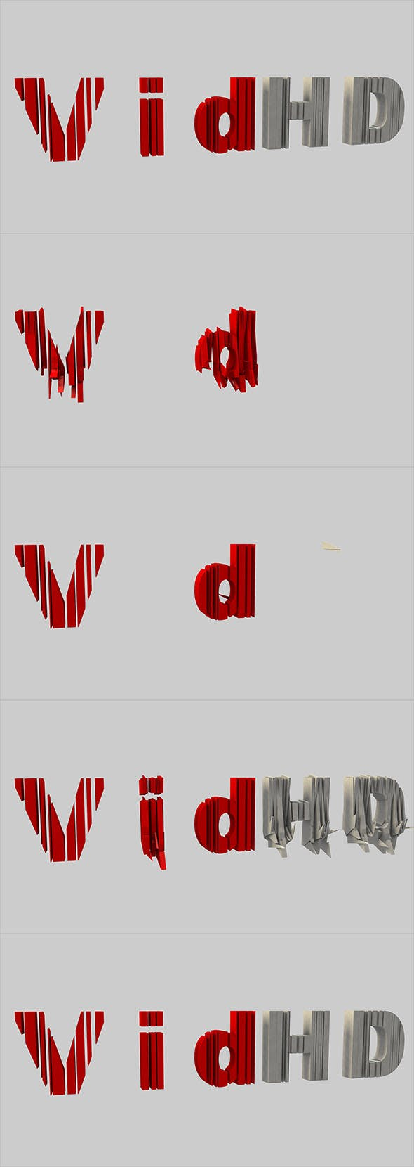 Animated letters3 - 3DOcean Item for Sale