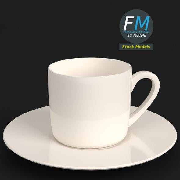 Empty coffee cup with saucer - 3DOcean Item for Sale