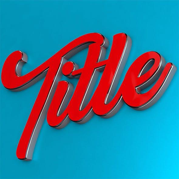 3d Title Design
