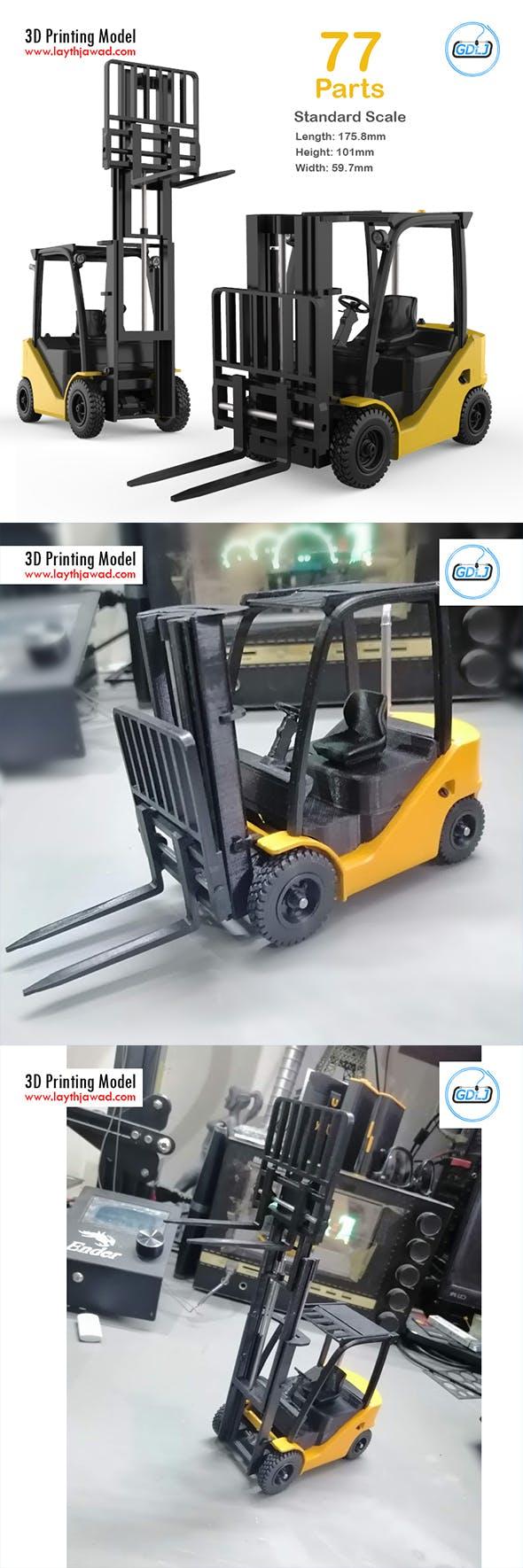 Clark S20 53 Forklift Truck - 3D Printing Model - 3DOcean Item for Sale