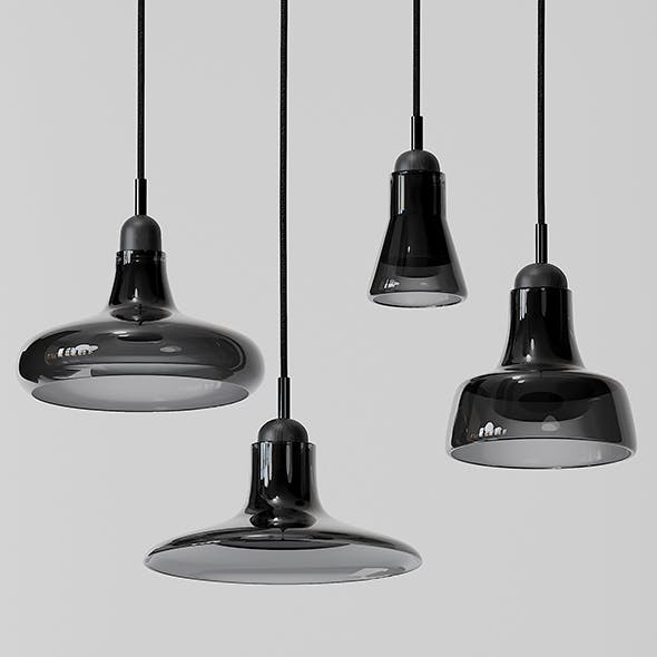 Shadow Large Pendants - Black and White - 3DOcean Item for Sale