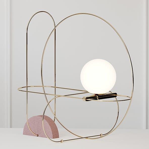 SETAREH Table Llamp Fontana Arte - 3DOcean Item for Sale