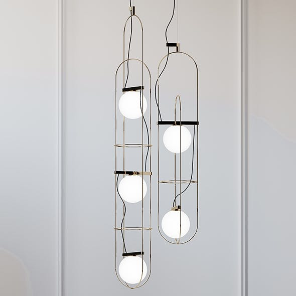 SETAREH Pendant Lamp FontanaArte - 3DOcean Item for Sale